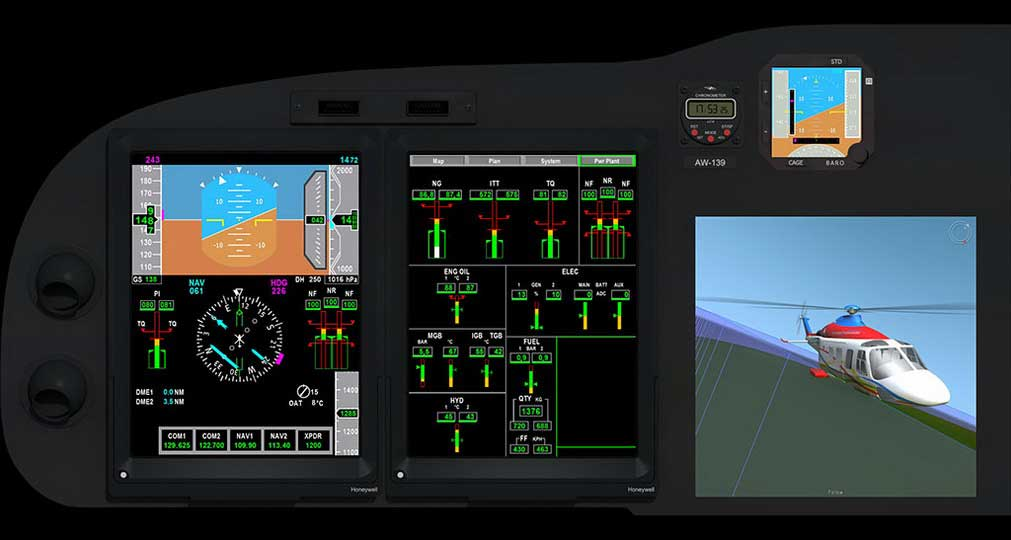 Agusta-Westland virtual cockpit for P.G.S. Replay software