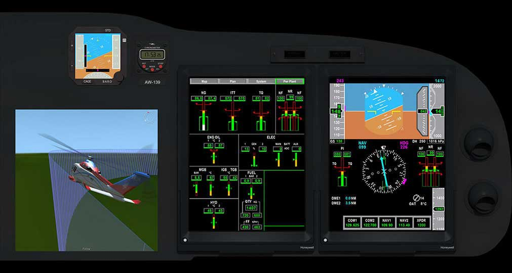 Panel for the AW139 Primus Epic Phase 7